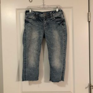 Silver Cropped Jeans